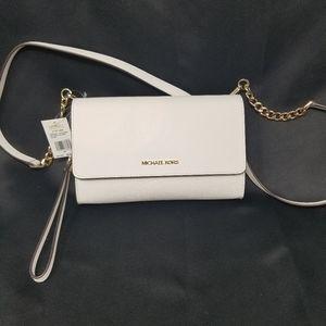 Michael Kors NEW White Leather Clutch Crossbody